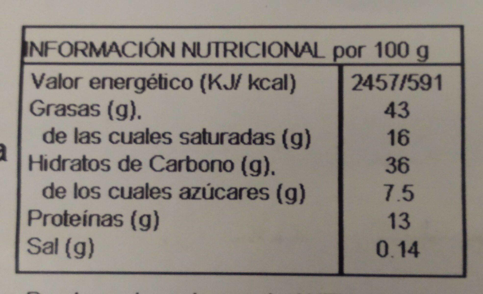 Chocolate Leche Almendra - Nutrition facts - es