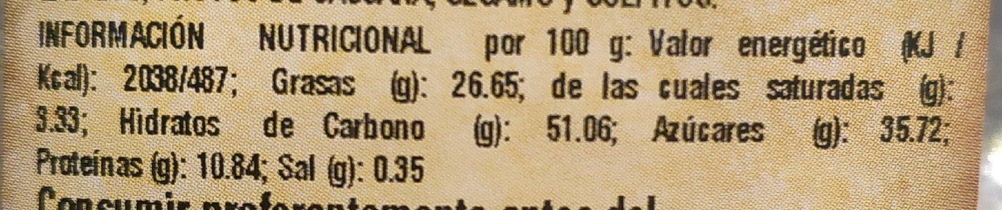 Almendras Rellenas - Informations nutritionnelles