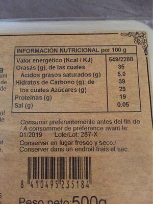 Tou d'Ametlla - Informations nutritionnelles - fr