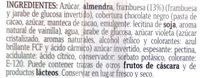 Turrón de Frambuesa - Ingredientes