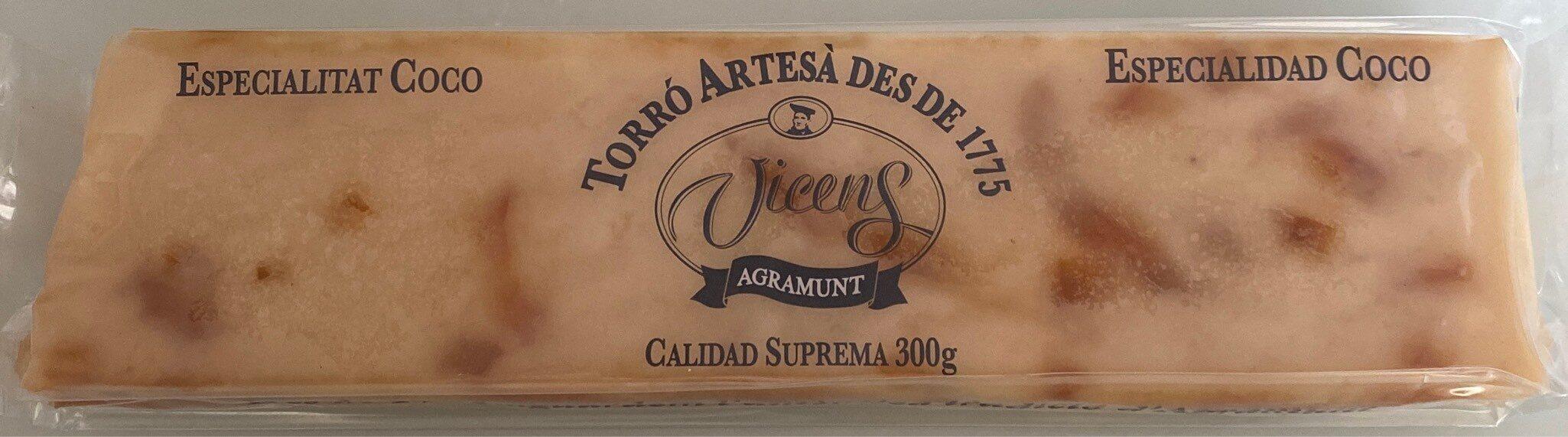 Turrón artesano, especialidad de coco - Produit - es