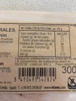 Turrón duro almendra, pistacho y limon - Informations nutritionnelles