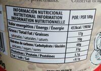 Chocolate a la taza - Informació nutricional - es