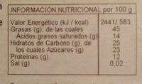 Torró Xocolata i Ametlla - Información nutricional - es