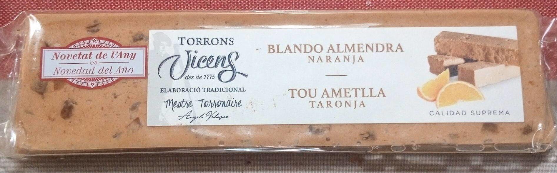 Turron Almendra Naranja - Producto