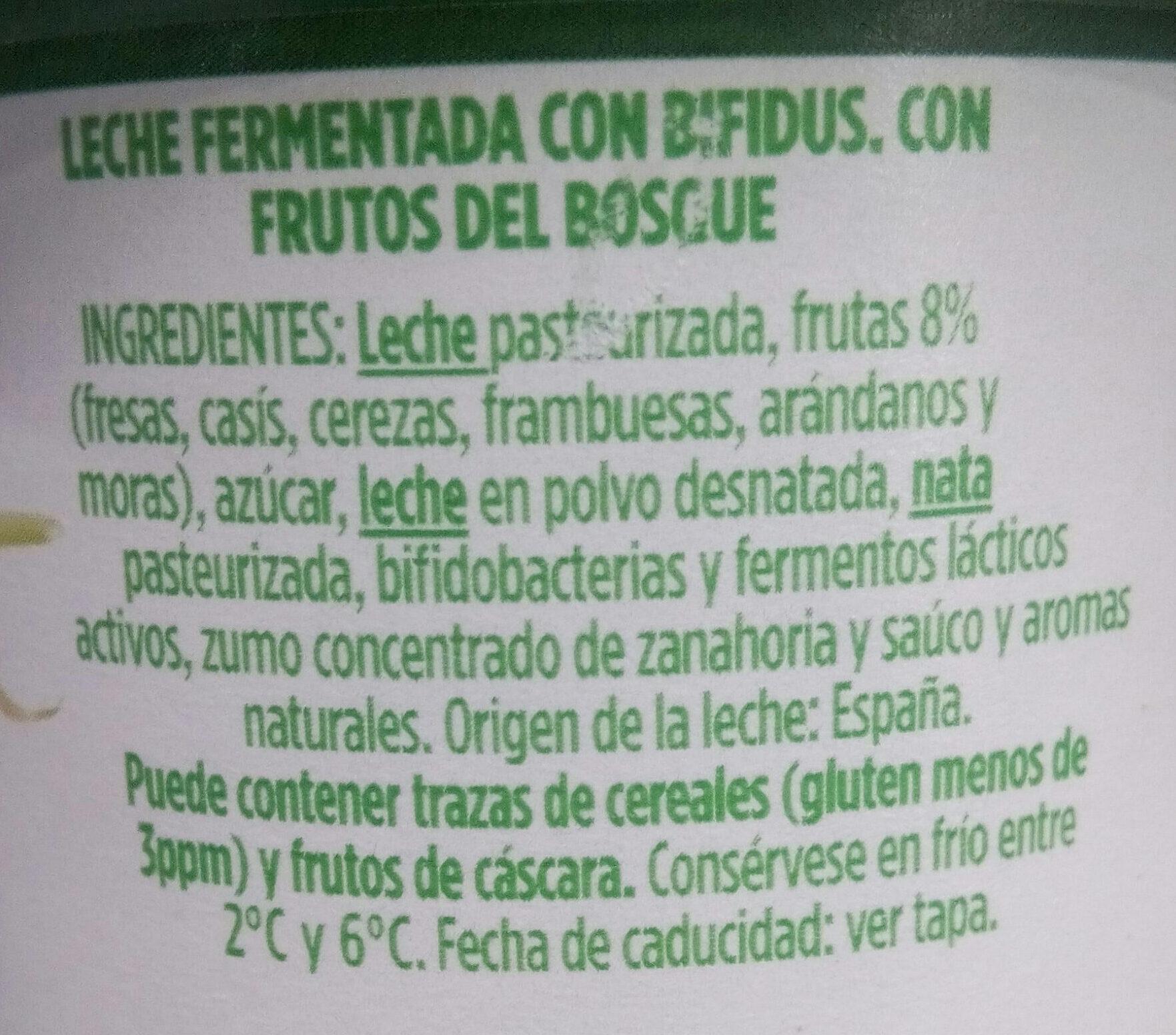 Activia con frutos del bosque - Ingredients