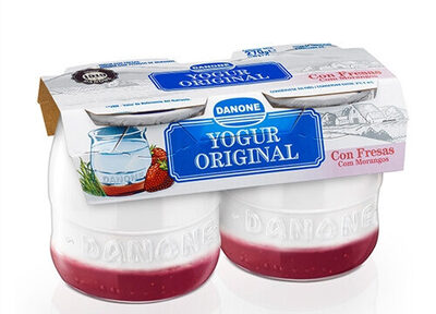 Yogur original con fresas - Product - es