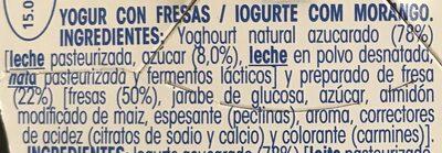 Yogur Con Fresas - Ingrediënten