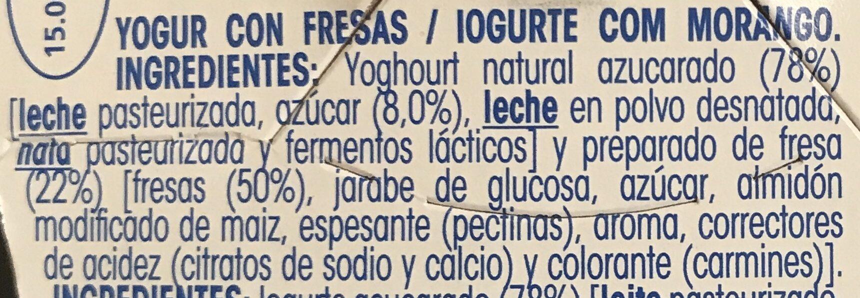 Original con fresas - Ingrediënten