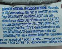 Yogur original con fresas - Información nutricional