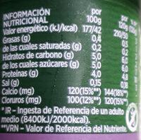 Activia bífidus natural desnatado 0% - Voedingswaarden - es