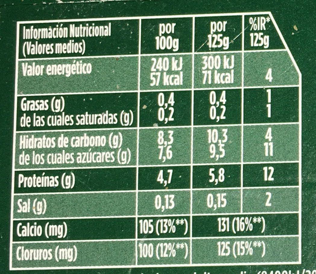 Activia 0% con Ciruelas - Información nutricional