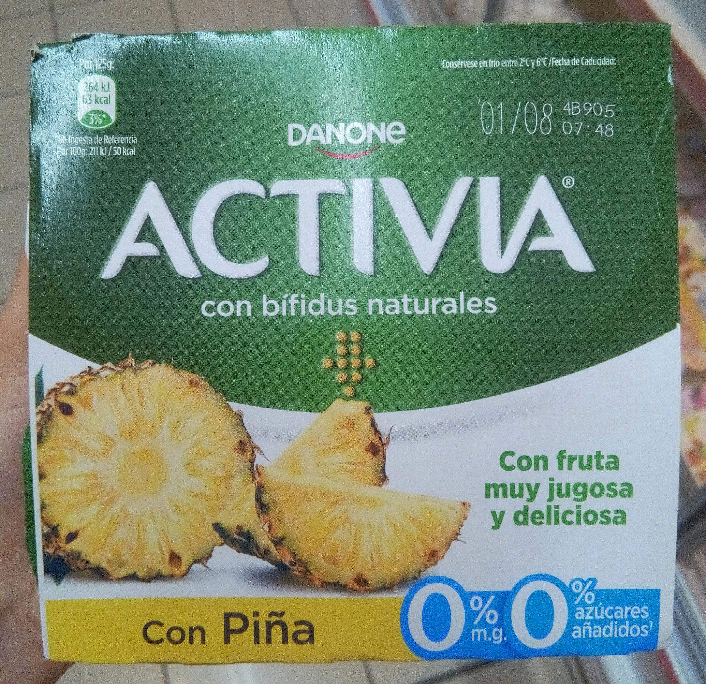 Activia 0% con Piña - Producto