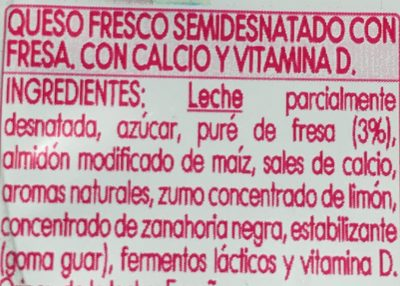 Danonino MaxiDino fresa - Ingredients
