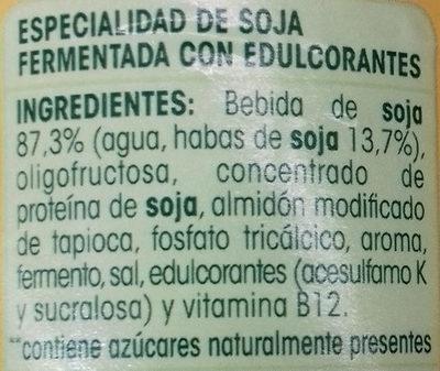 Savia Edulcorado - Ingrediënten