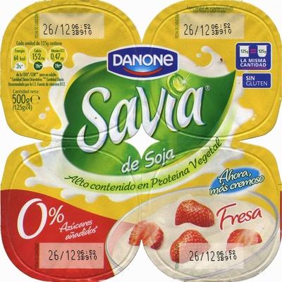 Postre de soja savia fresa edulcorado - DESCATALOGADO - Product - es