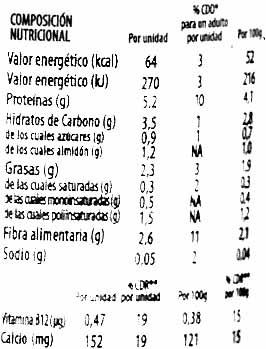 Postre de soja savia fresa edulcorado - DESCATALOGADO - Voedingswaarden - es