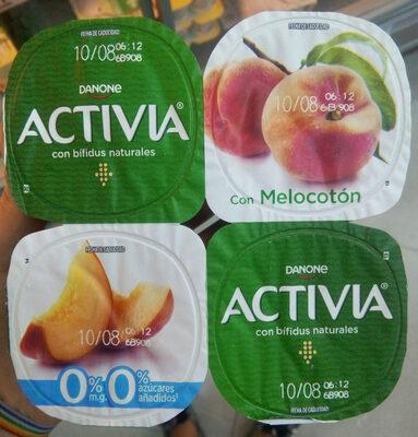 Bífidus desnatado m.g. azúcar añadido con melocotón sin gluten