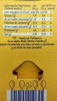 Danet natillas - Informació nutricional