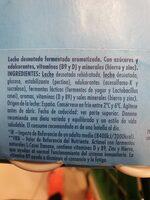 Actimel 0% Natural - Ingredientes - es