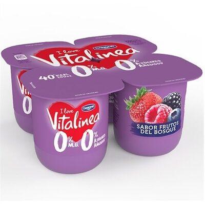 Vitalinea yogur sabor frutos del bosque - Produkt - es