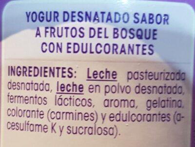 Vitalinea yogur sabor frutos del bosque - Inhaltsstoffe - es