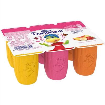 Yogur petit sabores fresa + melocotón + plátano sin gluten - Product