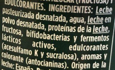 Bífidus desnatado cremoso m.g. sabor frutos silvestres - Inhaltsstoffe - es