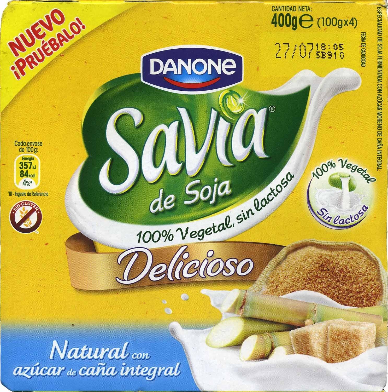 """Postre de soja """"Savia"""" natural con azúcar de caña integral - Producte"""