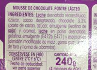 Vitalinea Mousse Chocolat - Ingredientes
