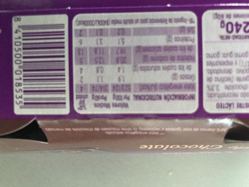 Vitalinea Mousse Chocolat - Información nutricional