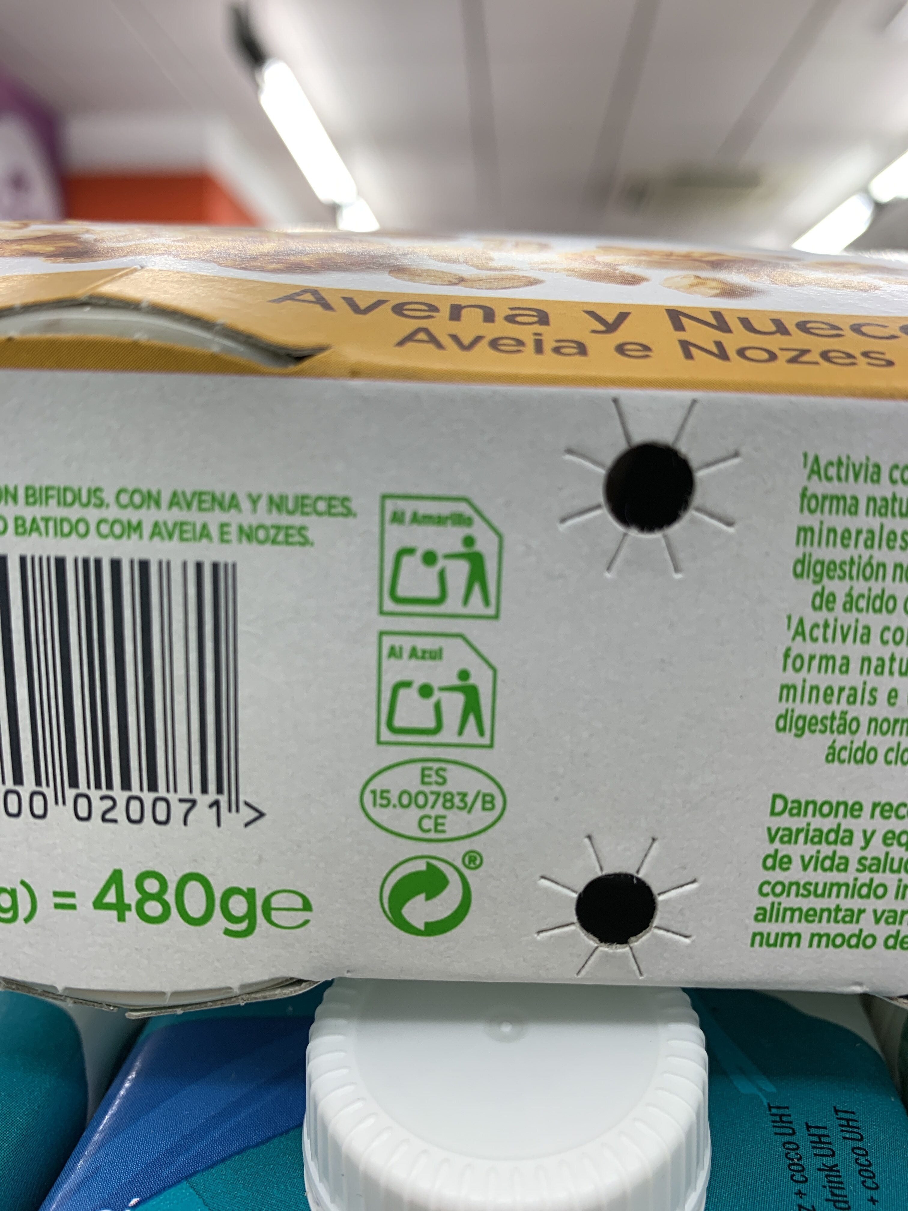 Fibras bífidus con avena y nueces - Recycling instructions and/or packaging information - es