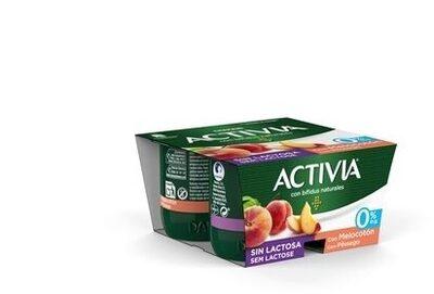 Activia sin lactosa Melocotón 0%