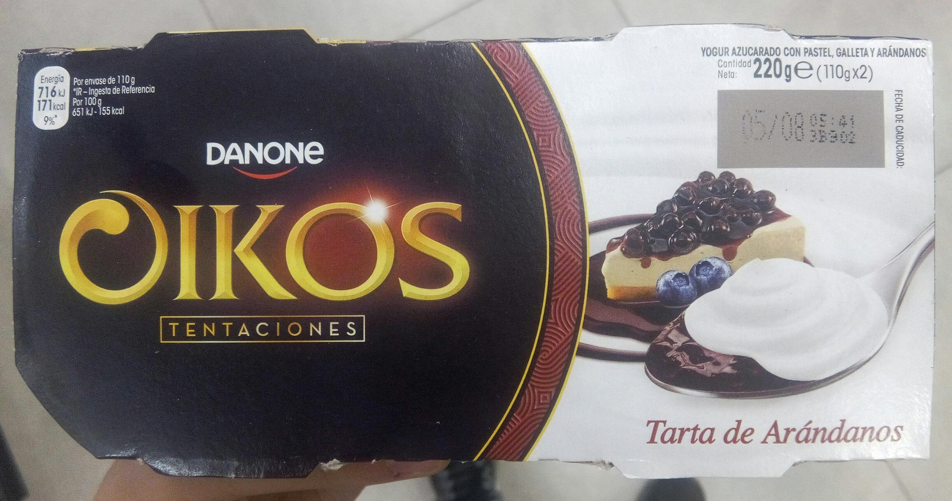 Oikos tentaciones tarta de arándanos - Produkt - es
