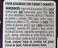 Oikos plátano y caramelo - Ingredients