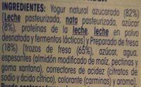 OIKOS fresa - Ingredients - es