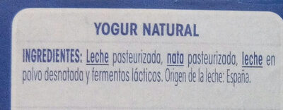 Oikos natural - Ingredients
