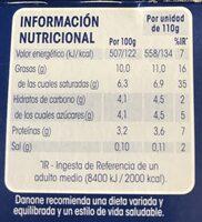 Yogur griego natural sin gluten - Informació nutricional - es