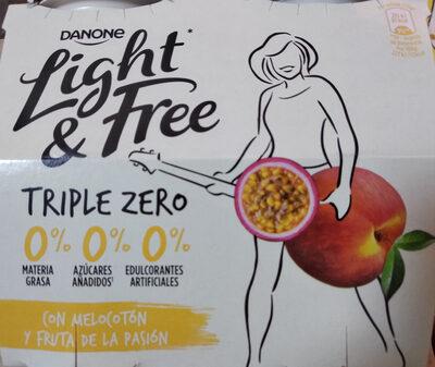 Light & free melocotón y fruta de la pasión - Producto