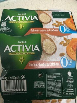Activia Quinoa y Semillas de Calabaza