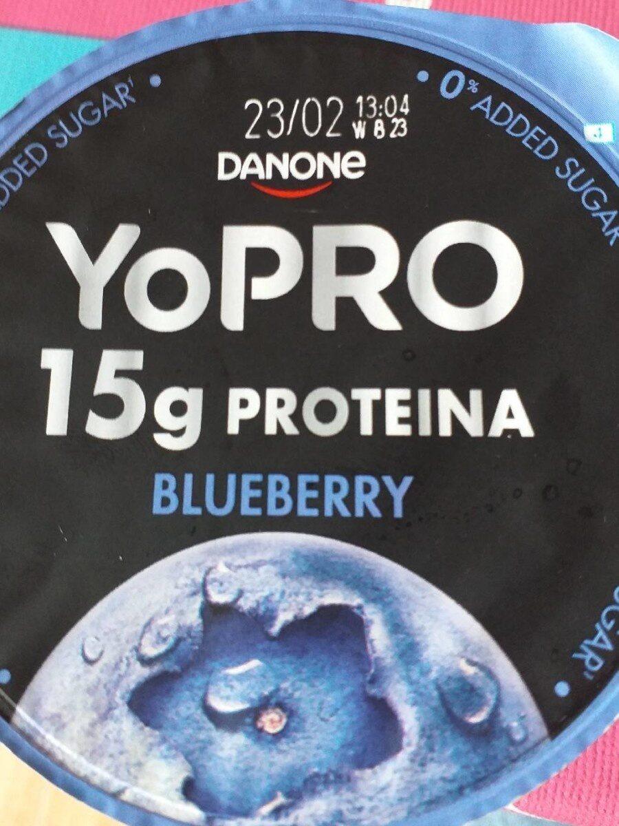 Yogur desnatado m.g. azúcares añadidos con arándanos proteína - Produto - et