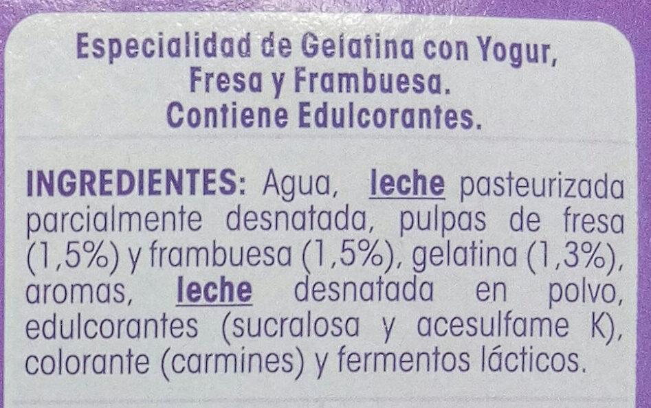Gelatina de yogur - Ingredientes - es