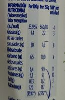 Yogur mango piña - Informations nutritionnelles - es