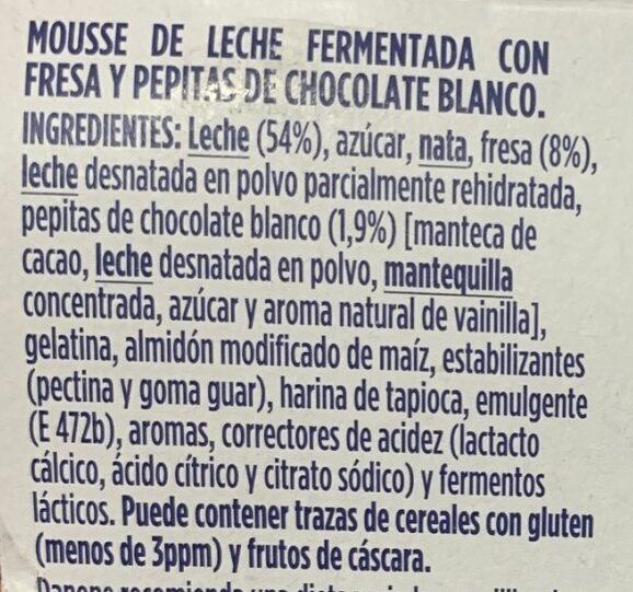 OIKOS mousse - Ingredientes - es