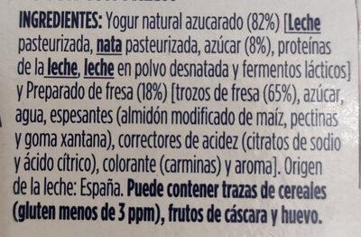 Oikos Yogur Griego con Fresas - Ingrédients - es