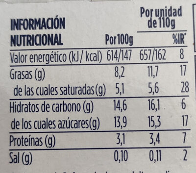 Oikos Yogur Griego con Fresas - Informations nutritionnelles - es