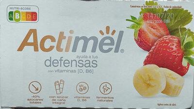 Actimel fresa y plátano - Producto - es