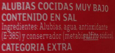 Alubias - Ingredients