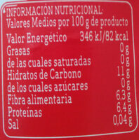 Alubias - Informació nutricional