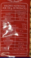 Garbanzos Pedrosillano - Nutrition facts